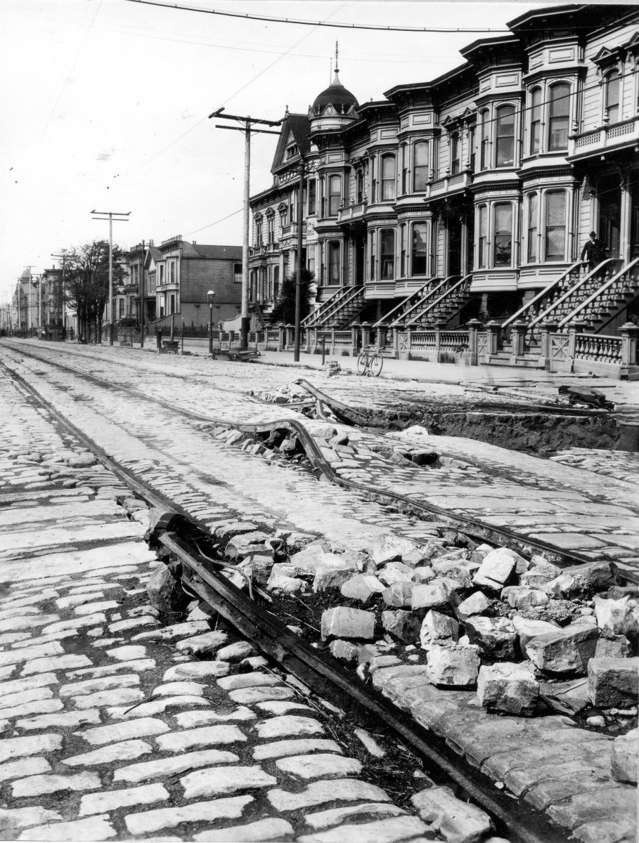 Aftermath of the 1906 San Francisco earthquake street view