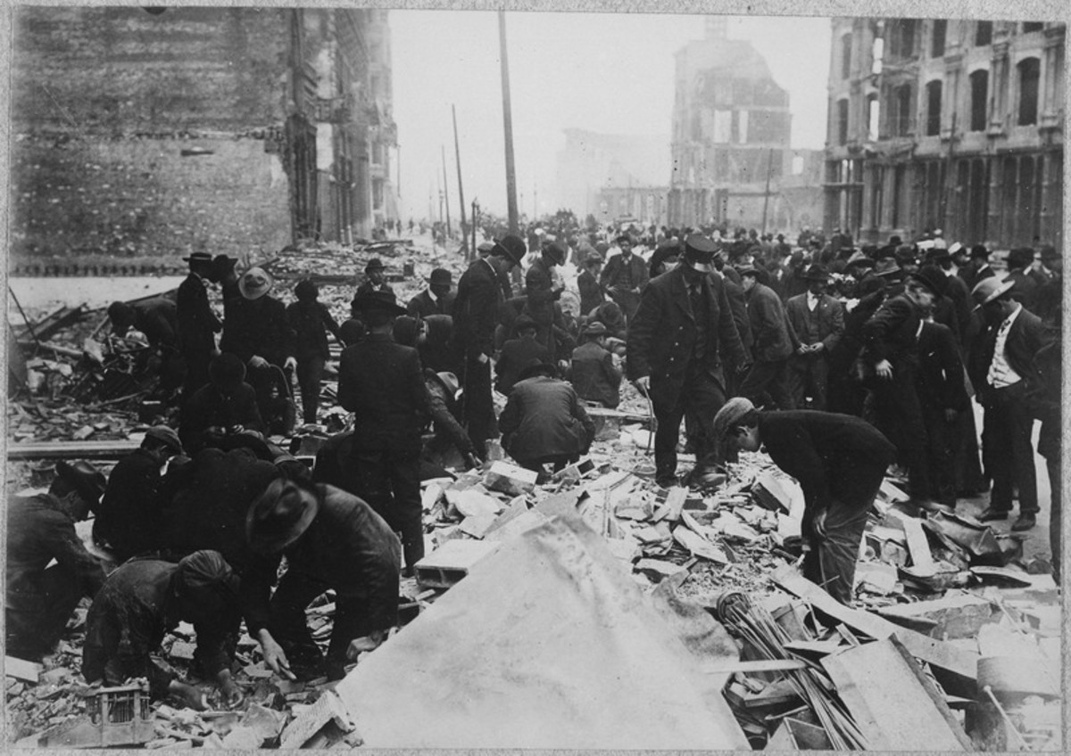 San Francisco Earthquake of 1906, Digging for souvenirs