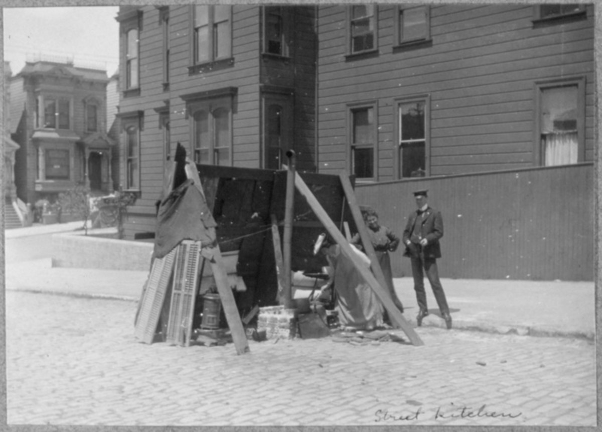 San Francisco Earthquake of 1906, Street kitchens