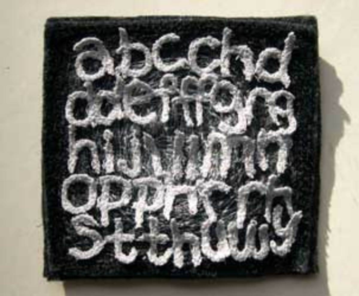 Welsh alphabet by Ruth Harries