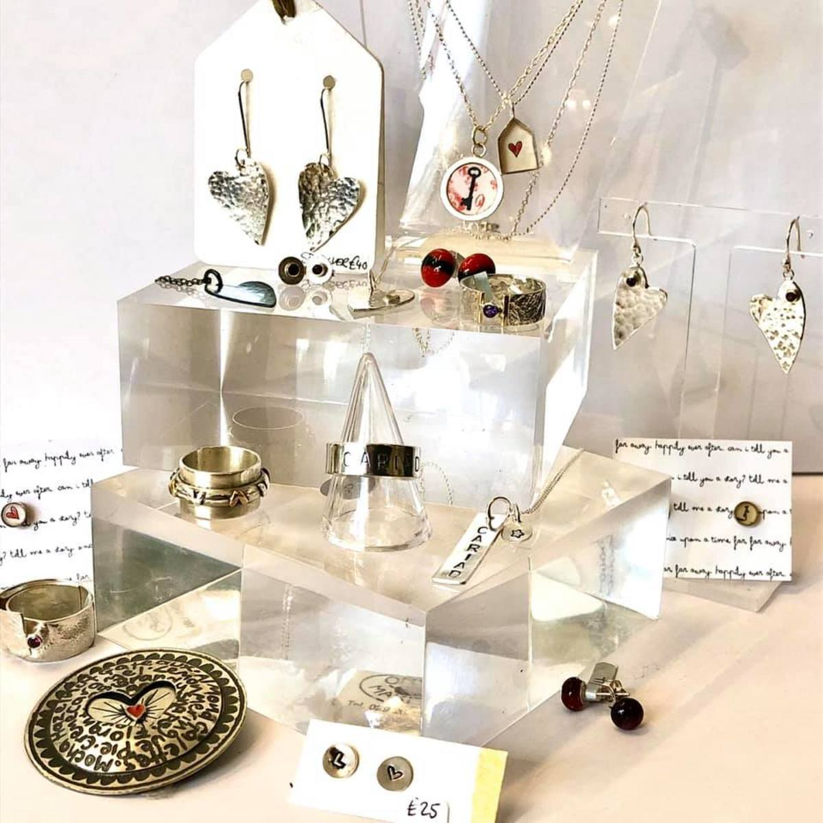 A selection of jewellery by gallery makers