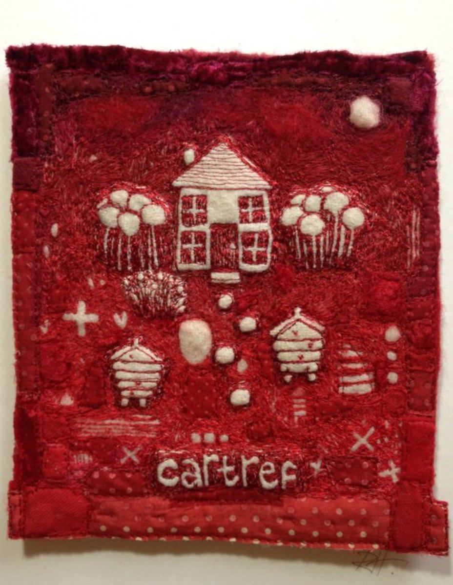 Stitched piece by Ruth Harries