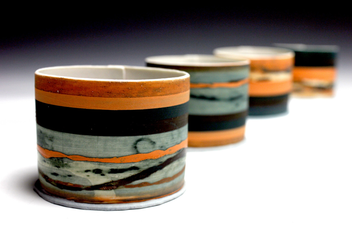 Porcelain vessels by Alison Graham
