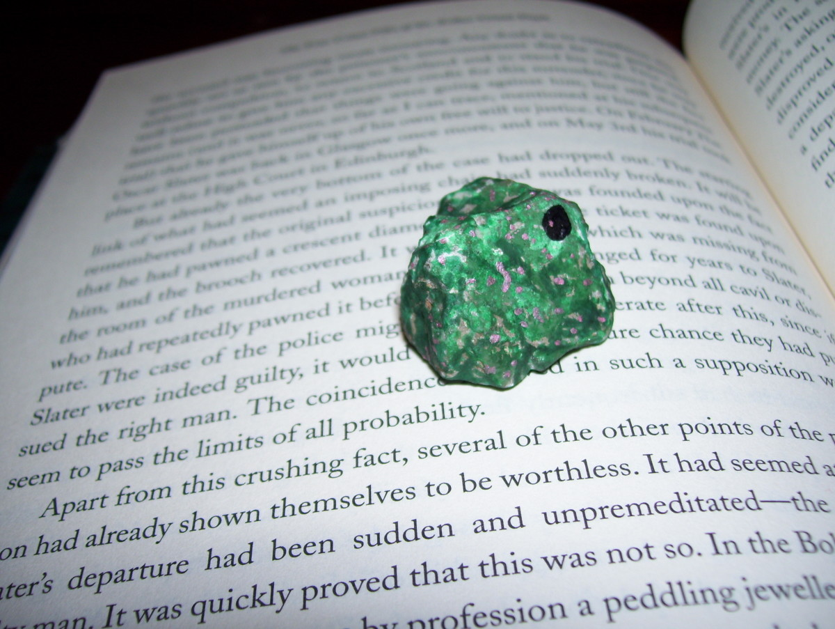 Your pet rock can function as a page holder while you read aloud.