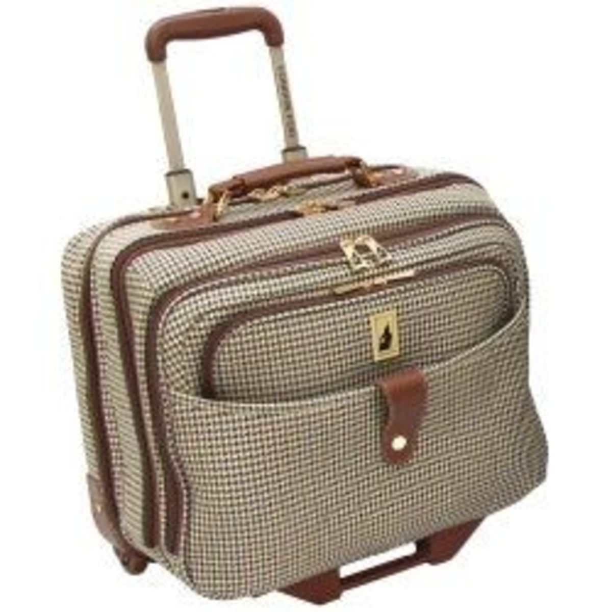 Women's Rolling Briefcase / Wheeled Briefcase for Women