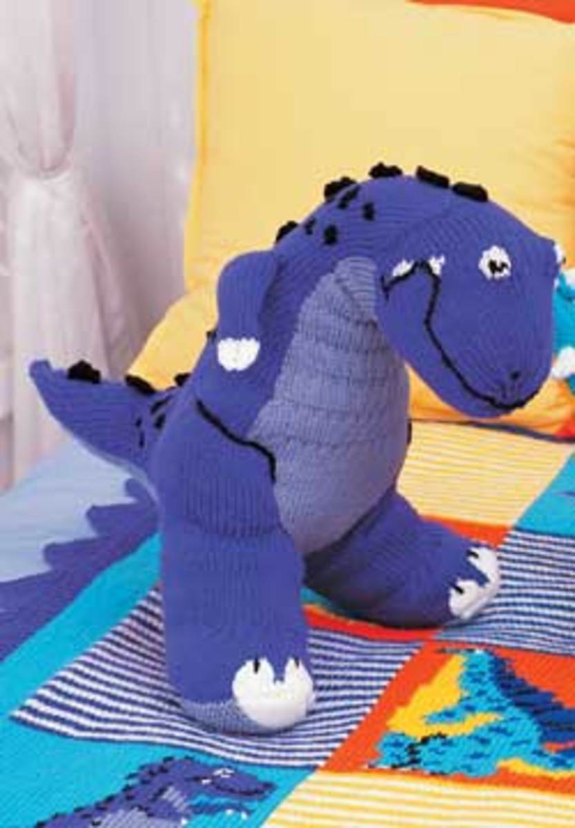 Knitting Pattern Dinosaur Toy : Knitted Toy Lamb And Other Free Patterns