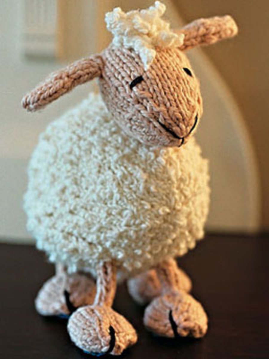 Knitted Toy Lamb And Other Free Patterns