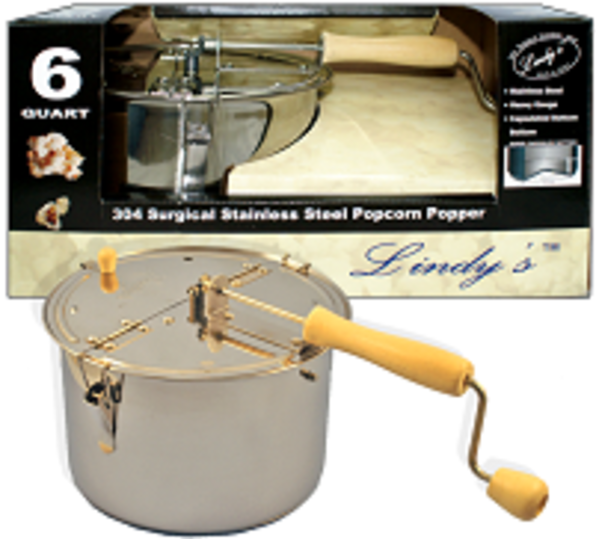 Hand Crank Pop Corn Maker