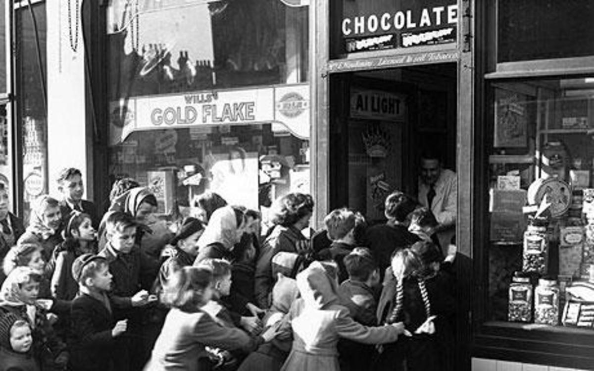End of sweet rationing Thursday 5th February 1953