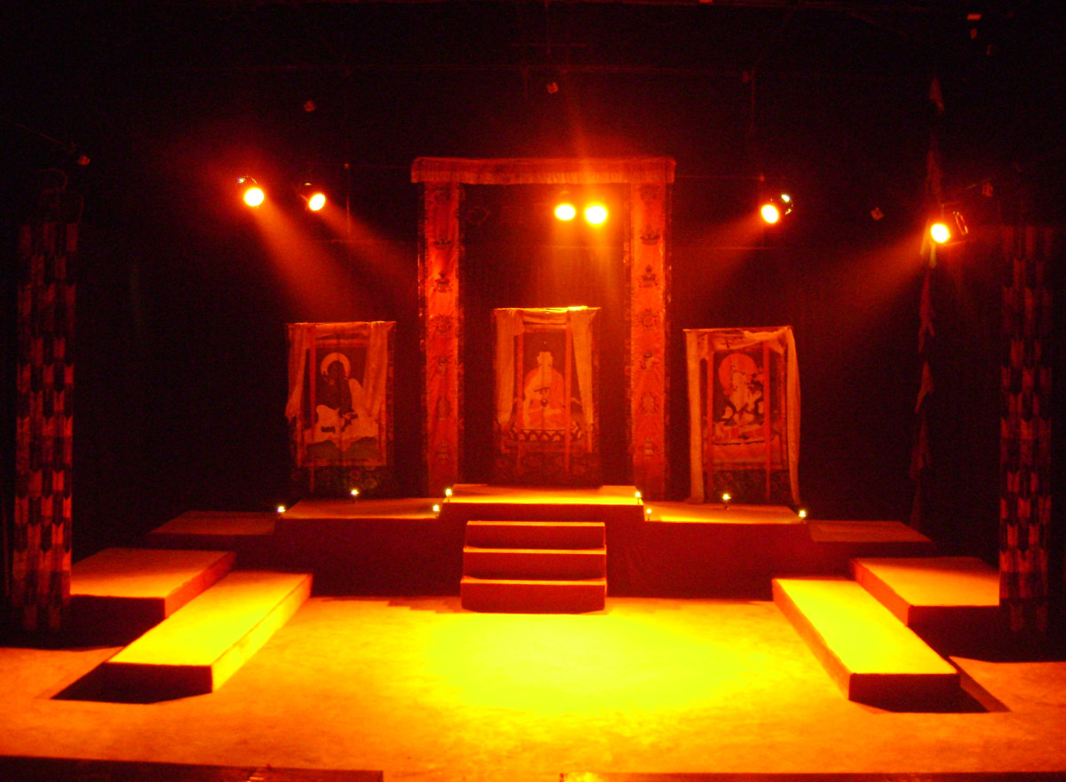 Proscenium Stage set for a play performance