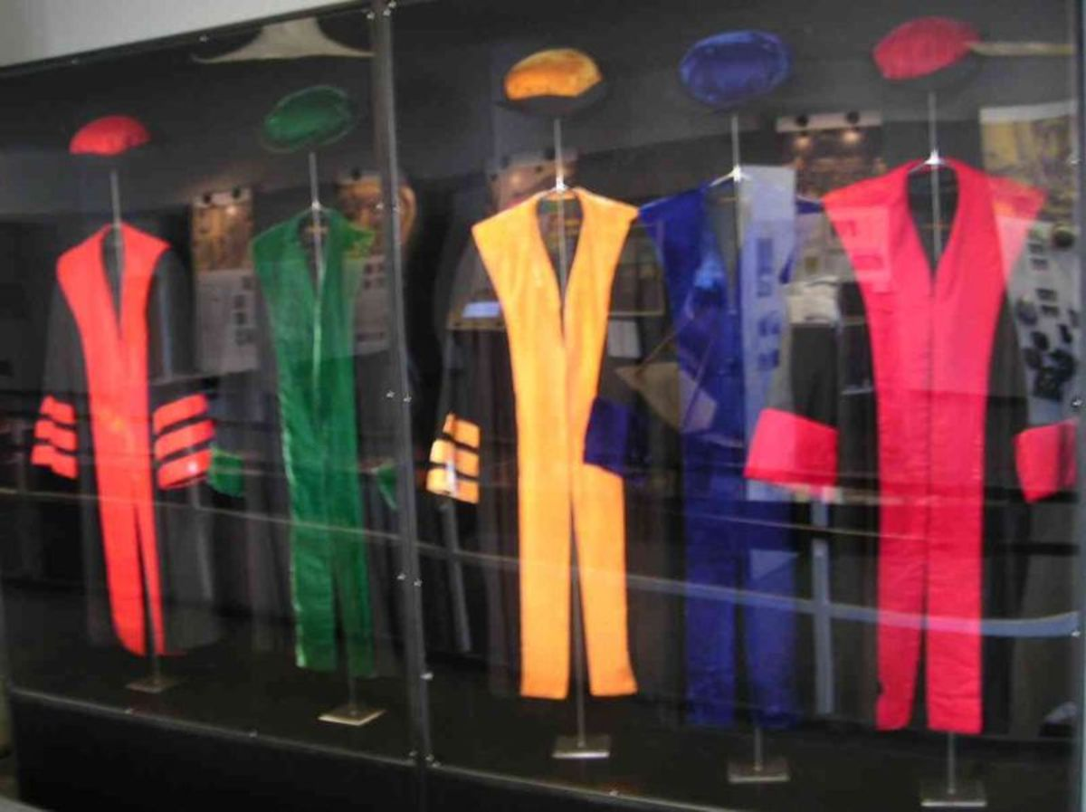 Academic regalia on display at the Free University of Berlin.
