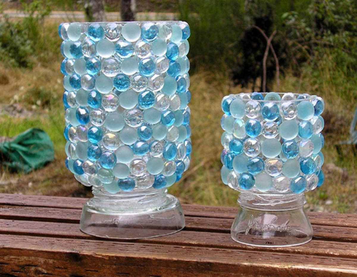 Recycled Craft Ideas Glass Jar Vase Projects And