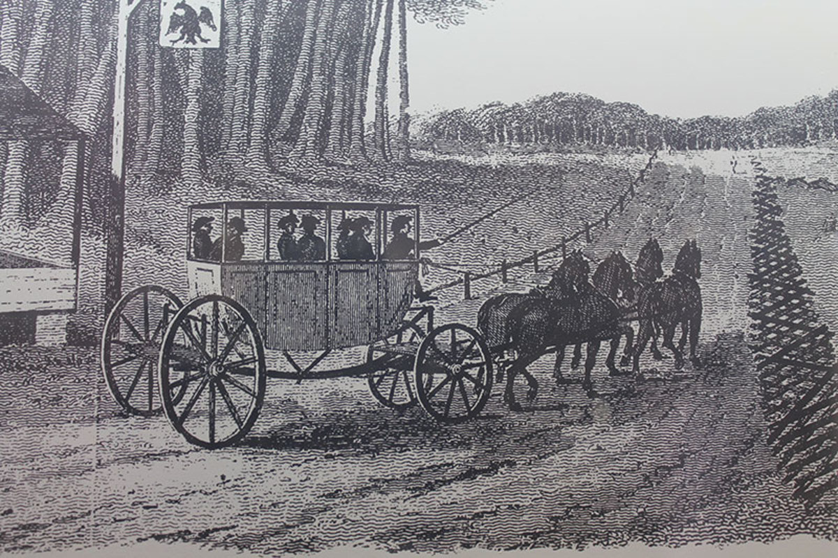 An original coach before the Concord was built.