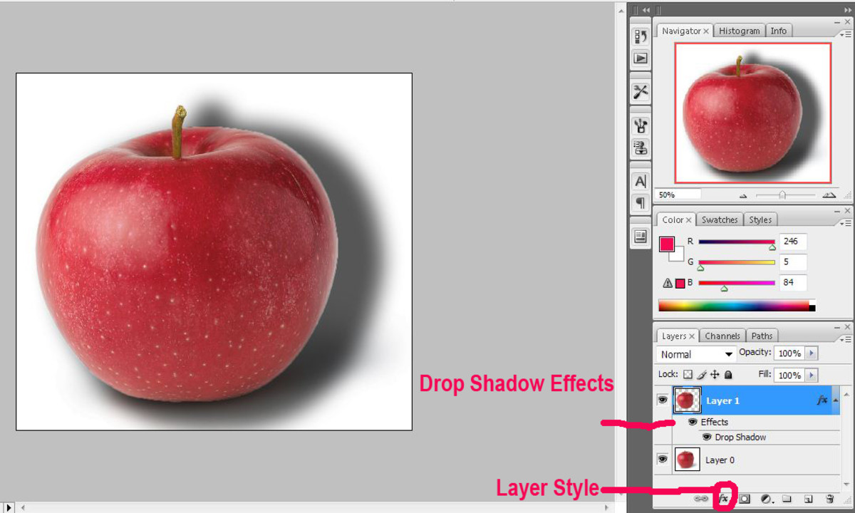 Applying Drop Shadow