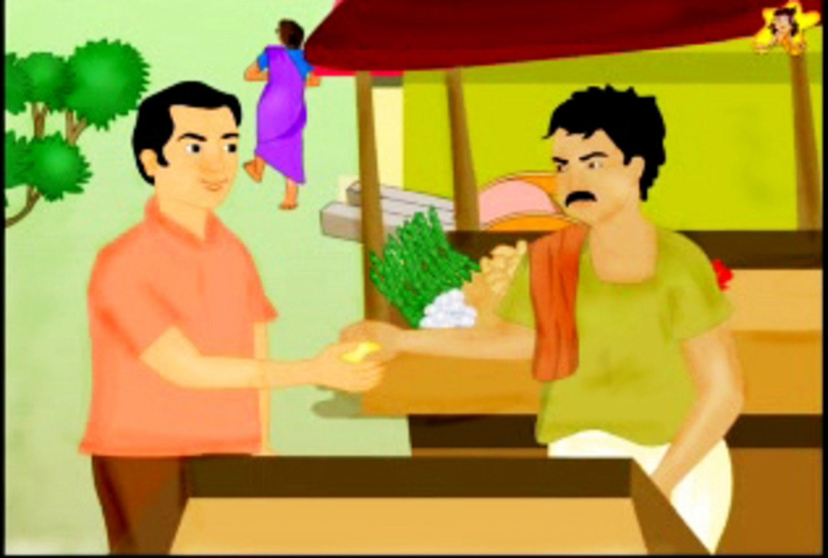 The goose that laid the golden egg - Ramu sells the golden egg for a lot of money