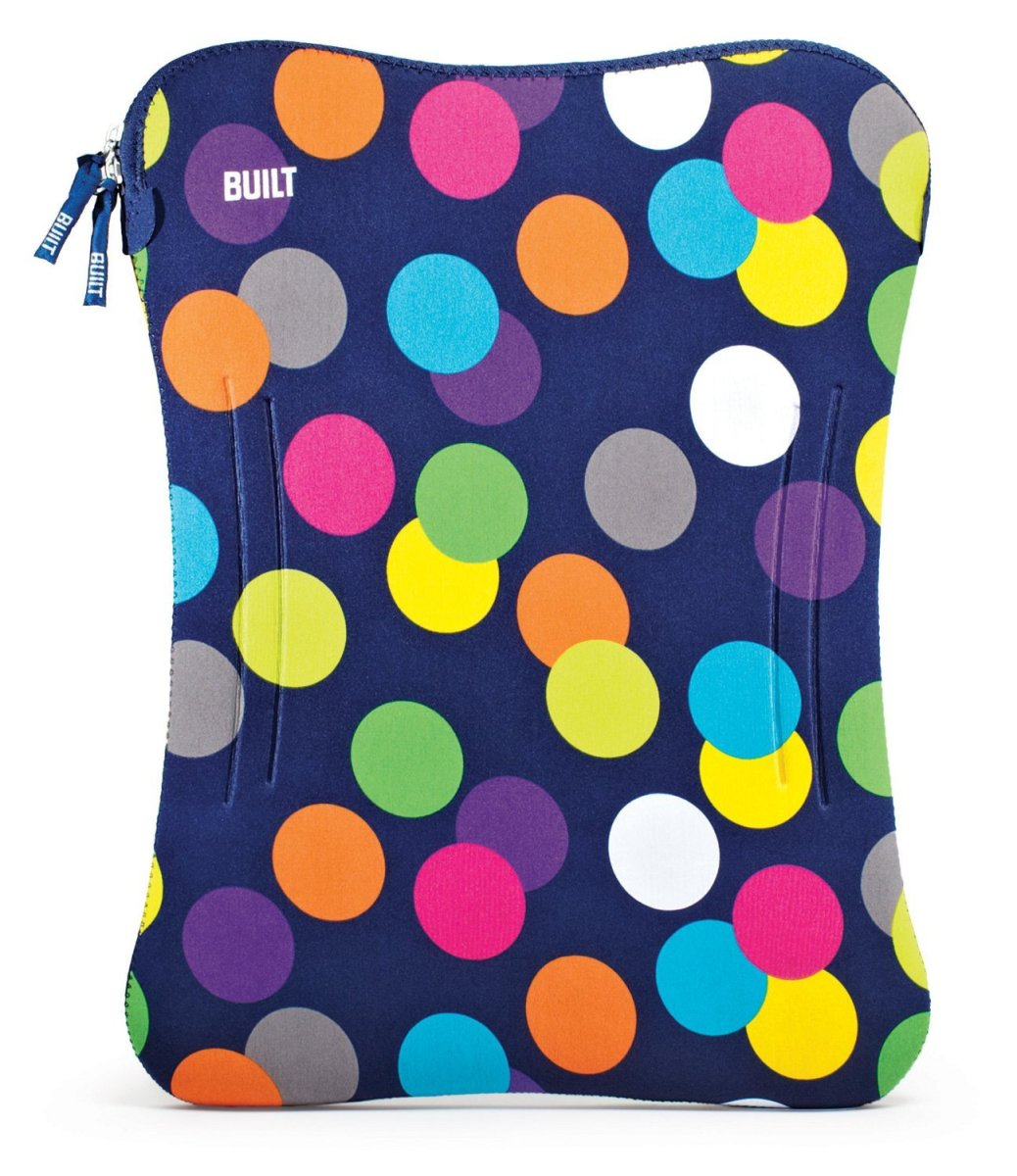 BUILT 17 Inch Neoprene Laptop Sleeve, Scatter Dot