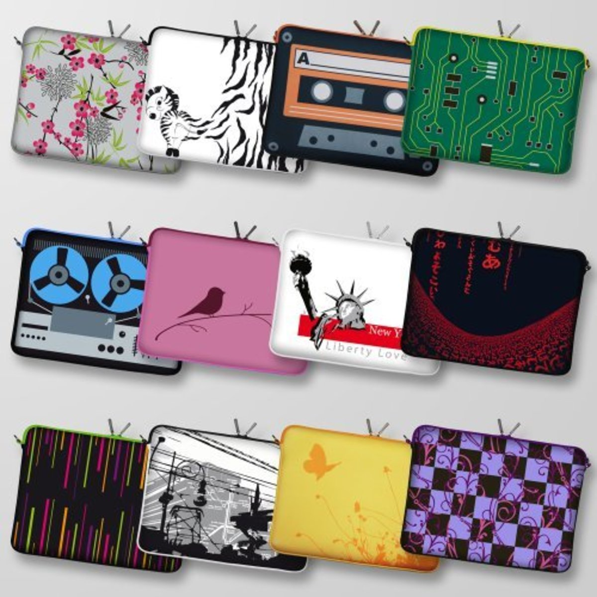 Digittrade Designer Notebook Sleeve Laptop Case Netbook Cover Tablet Bag Neoprene