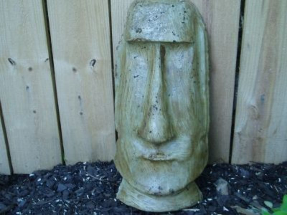 My Tiki face brushed with cedar color UV sealer.