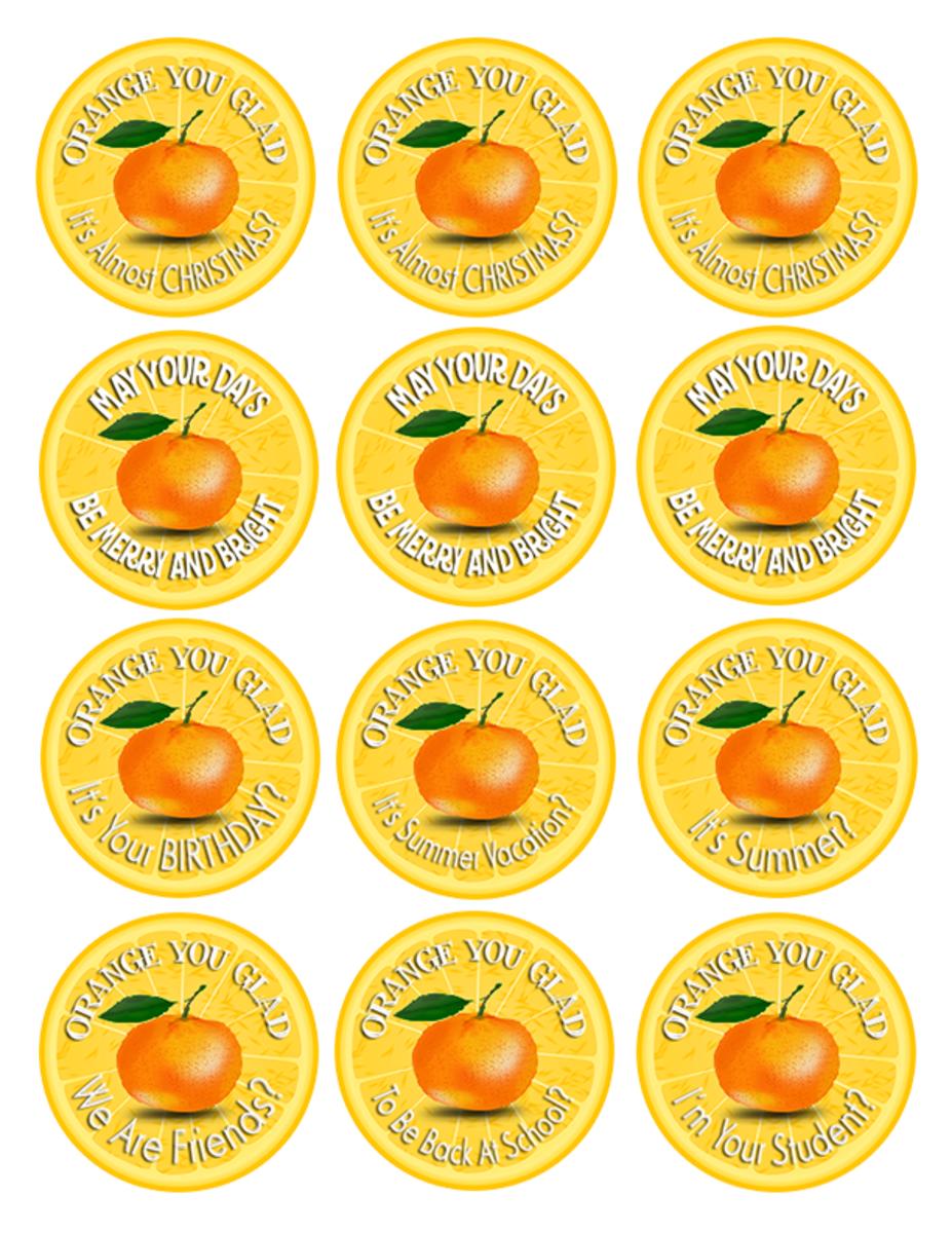 Download Orange You Glad Free Printable Gift Tags