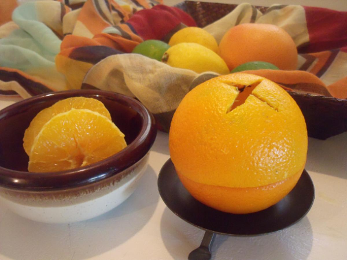 Homemade Natural Orange Candle