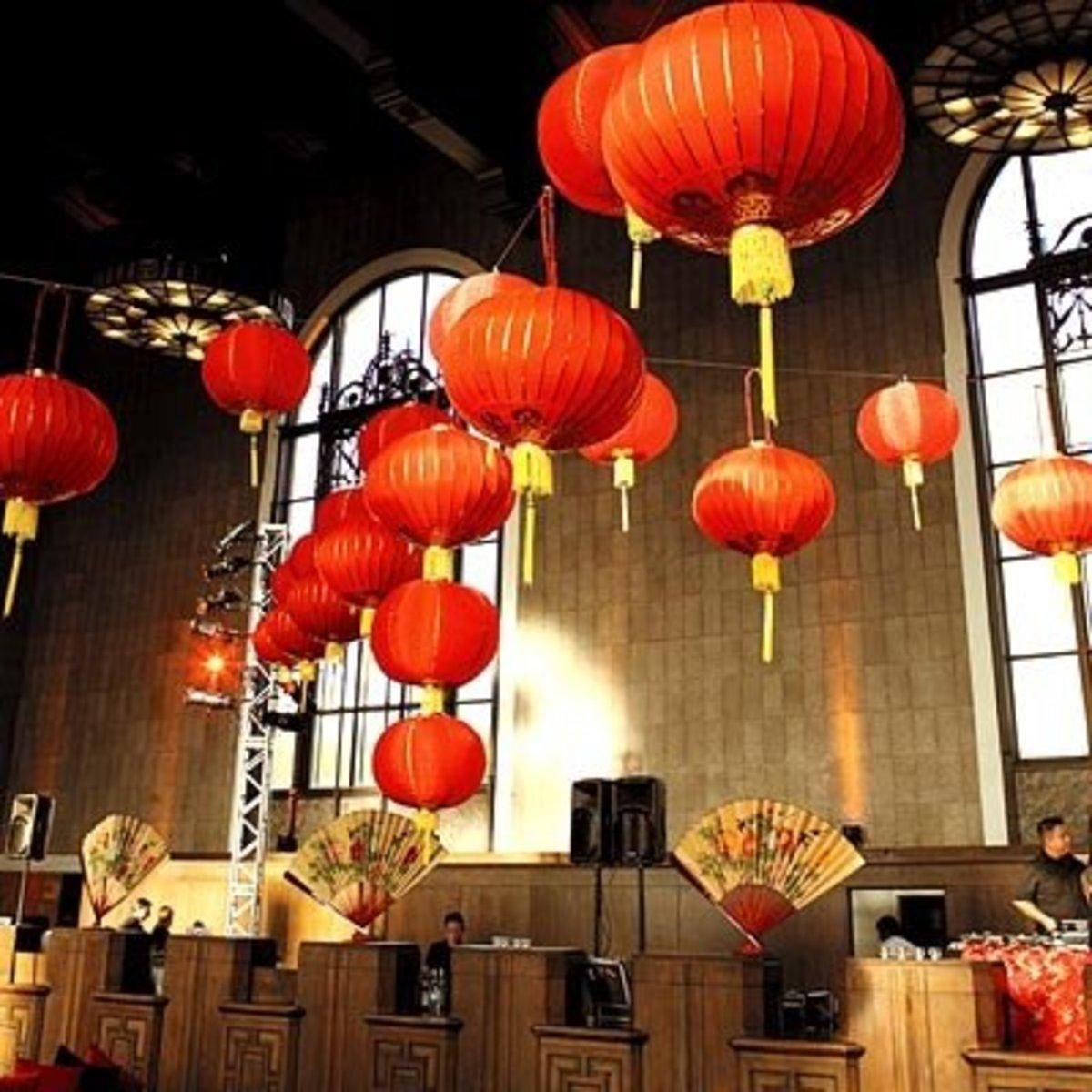 Chinese Lantern Wedding Decor