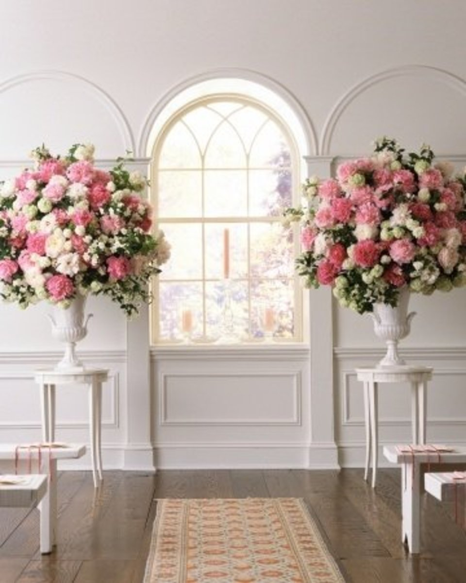 Wedding Flowers Part III Ceremony Flowers Reception Flowers And Decor