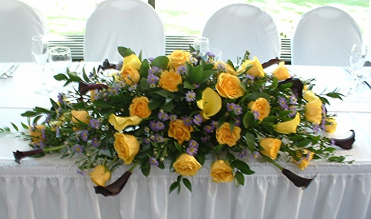 Wedding Head Table Flowers