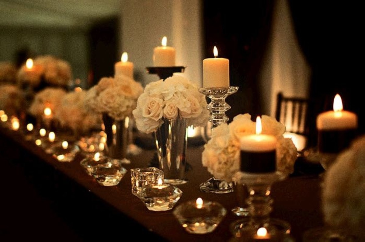 Elegant Wedding Candles Decor