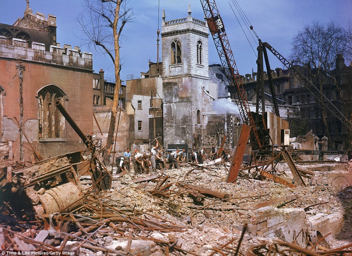 Clearing bomb damage