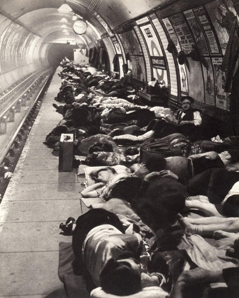 Sleeping on the platform