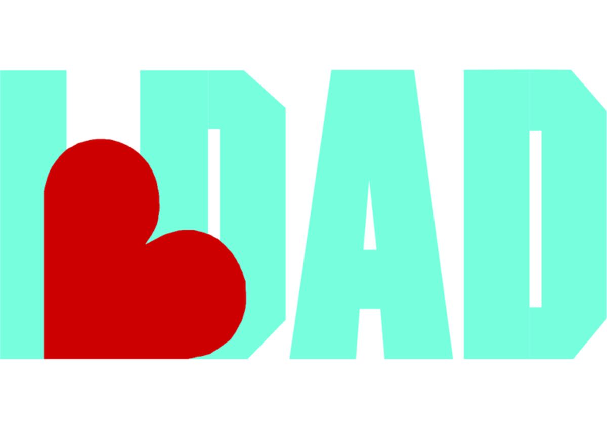 'I ♥ Dad' Graphic