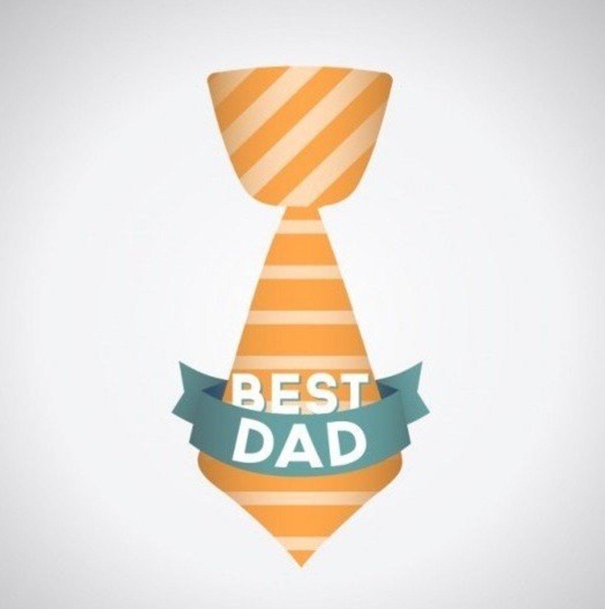 'Best Dad' on a Tie