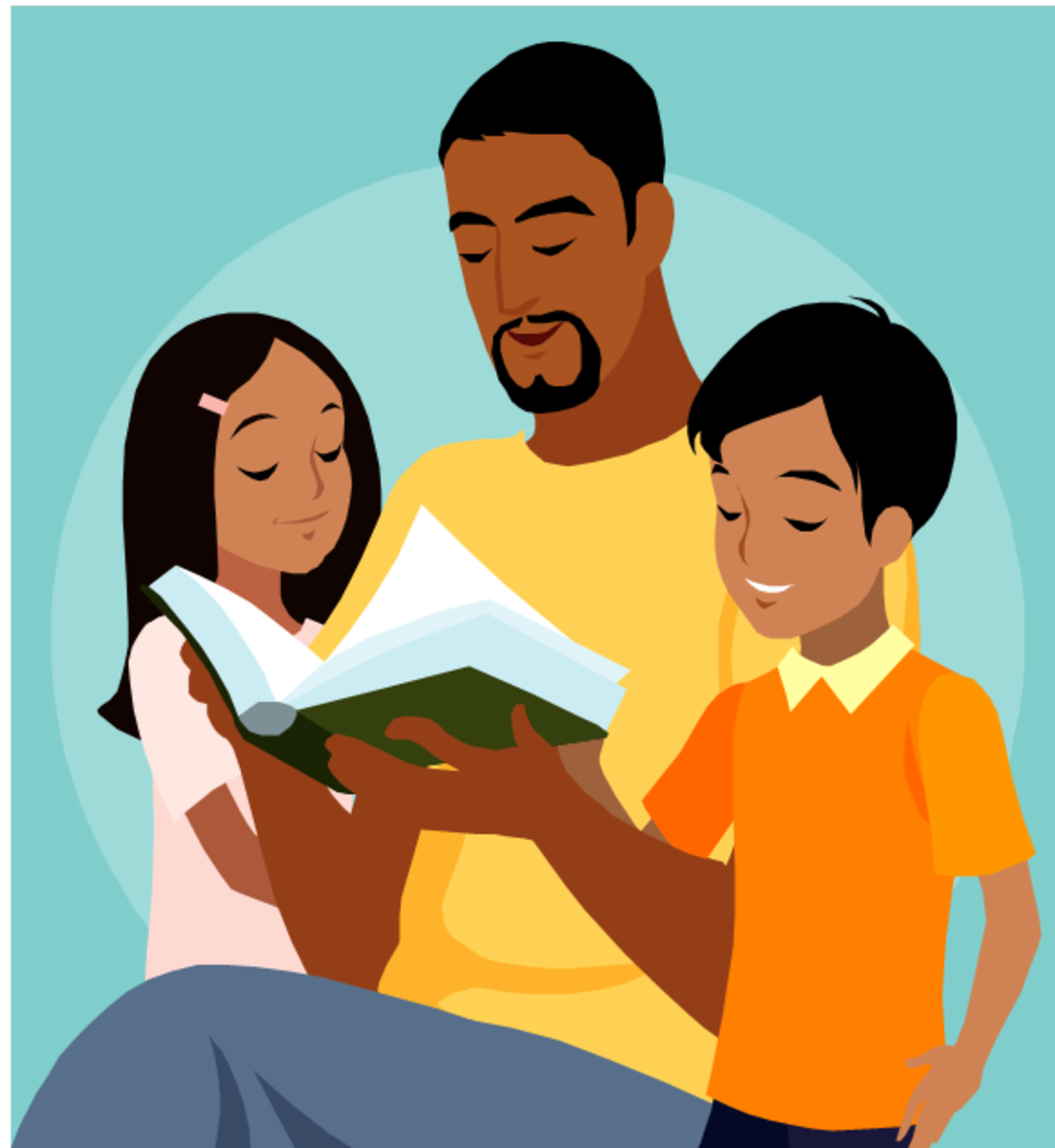 Picture of Father Reading to his Children