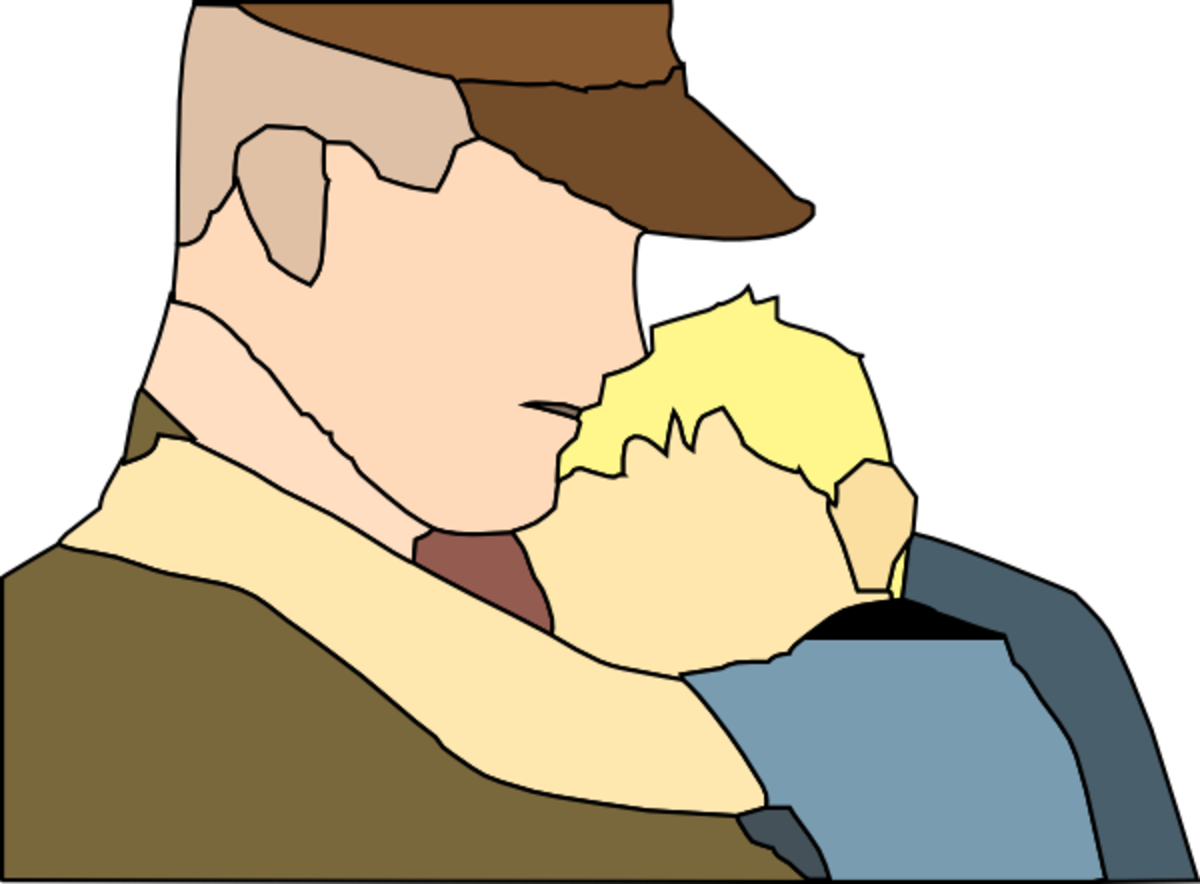 Father and Child Clip Art