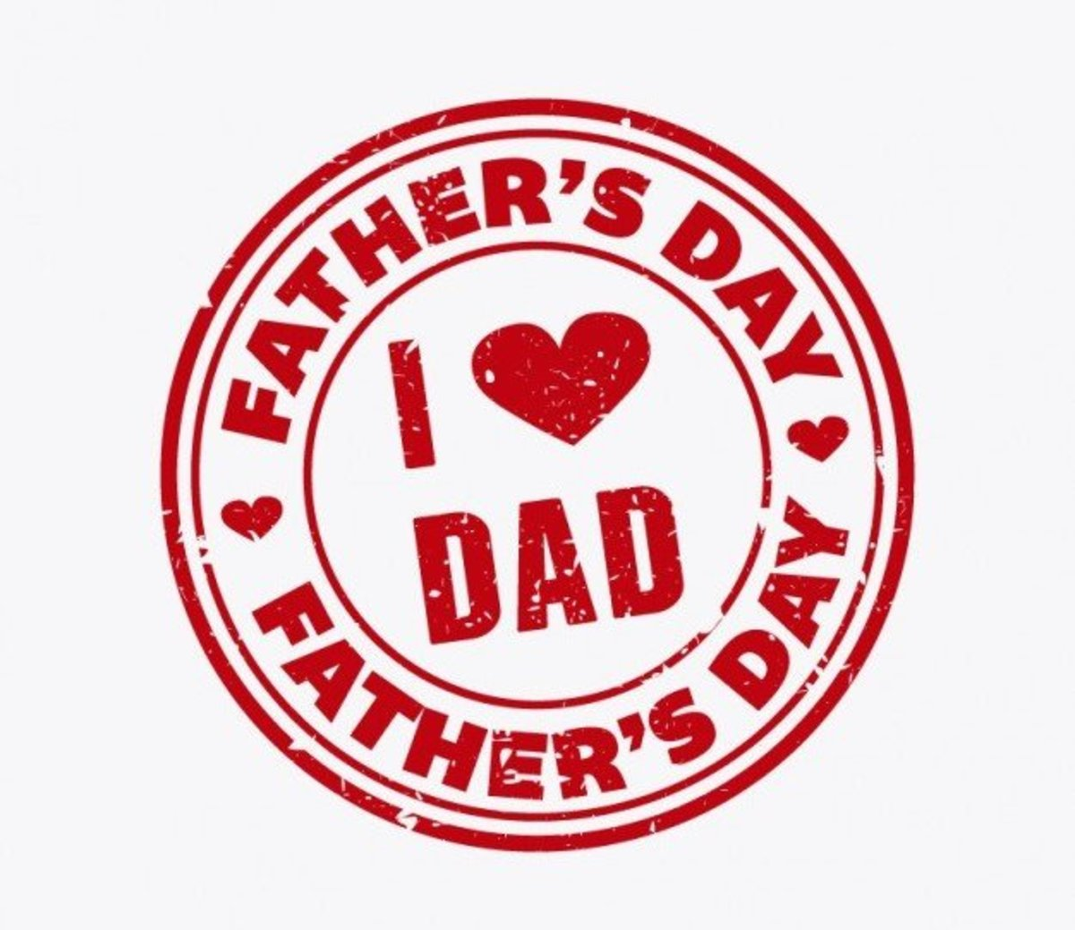 Father's Day 'I ♥ Dad' Seal