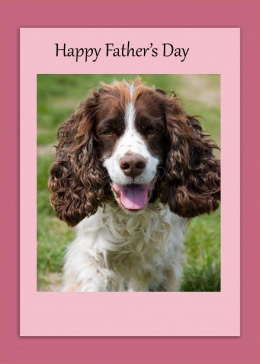 Father's Day Card with Dog