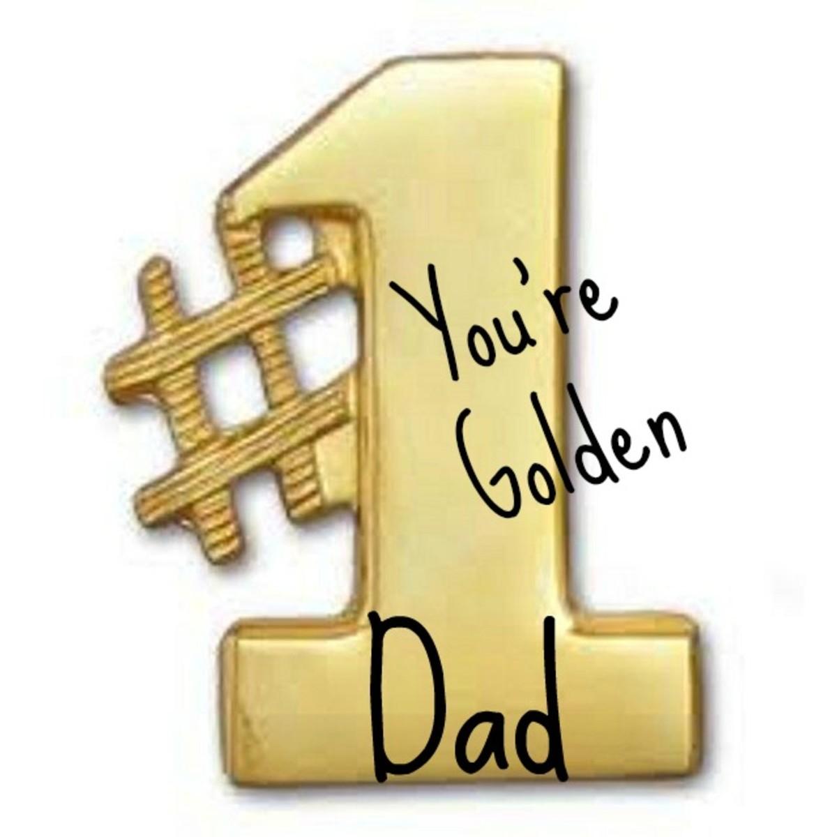 Golden #1 Dad Clip Art