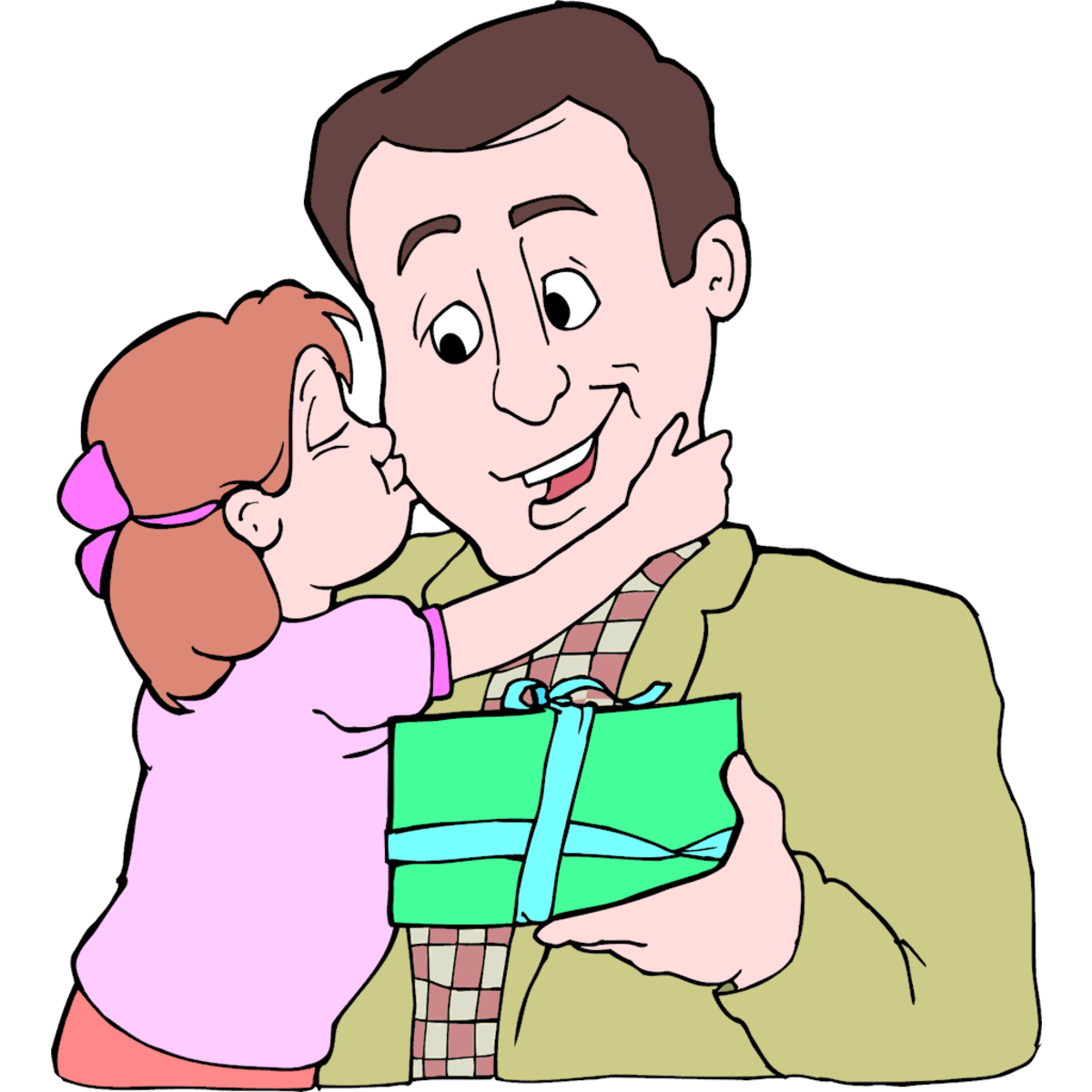 Picture of Daughter Giving Dad a Gift