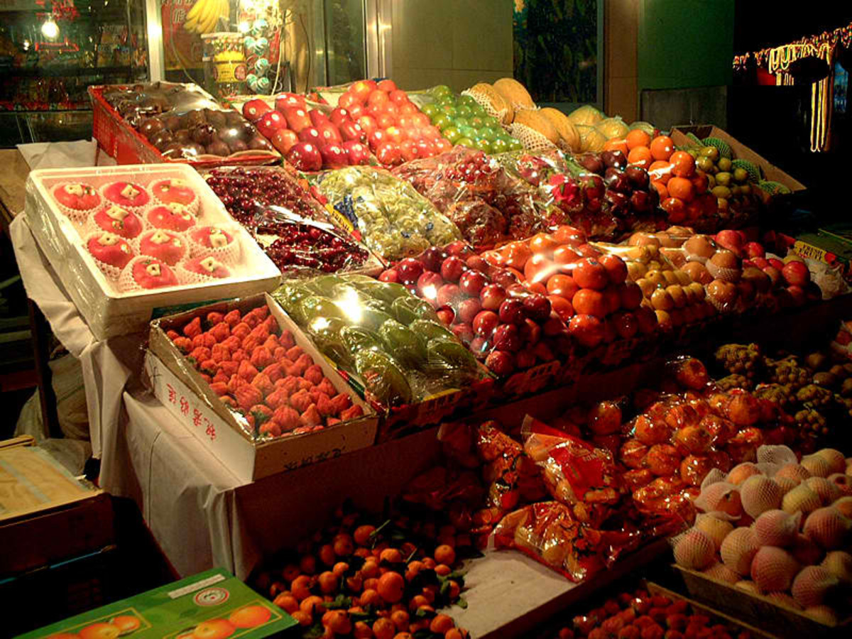Fruit markets in China via Wikimedia Common
