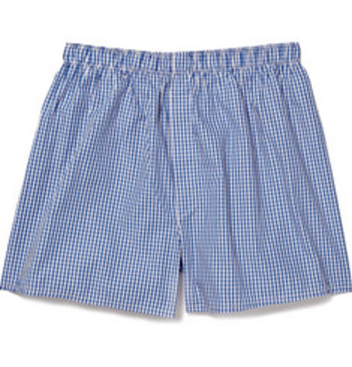 $95 GINGHAM CHECK COTTON BOXER SHORTS