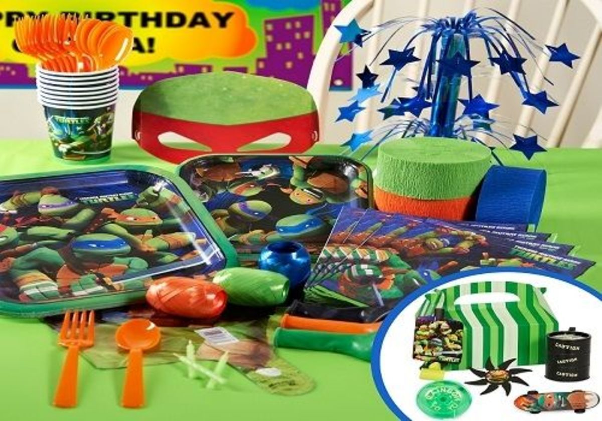Licensed Teenage Mutant Ninja Turtles Party Packs