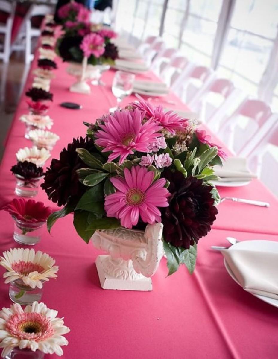 Wedding Reception Guest Table