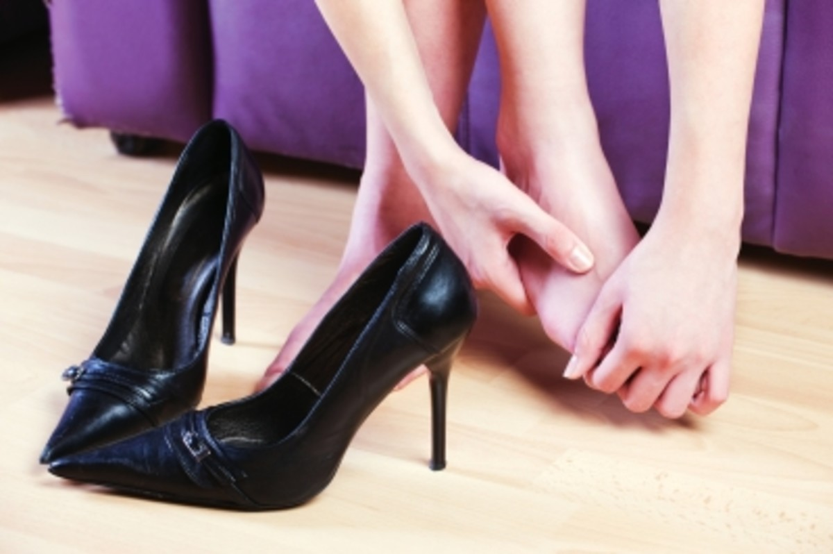 a quick massage at work will give temporary relief to aching feet.