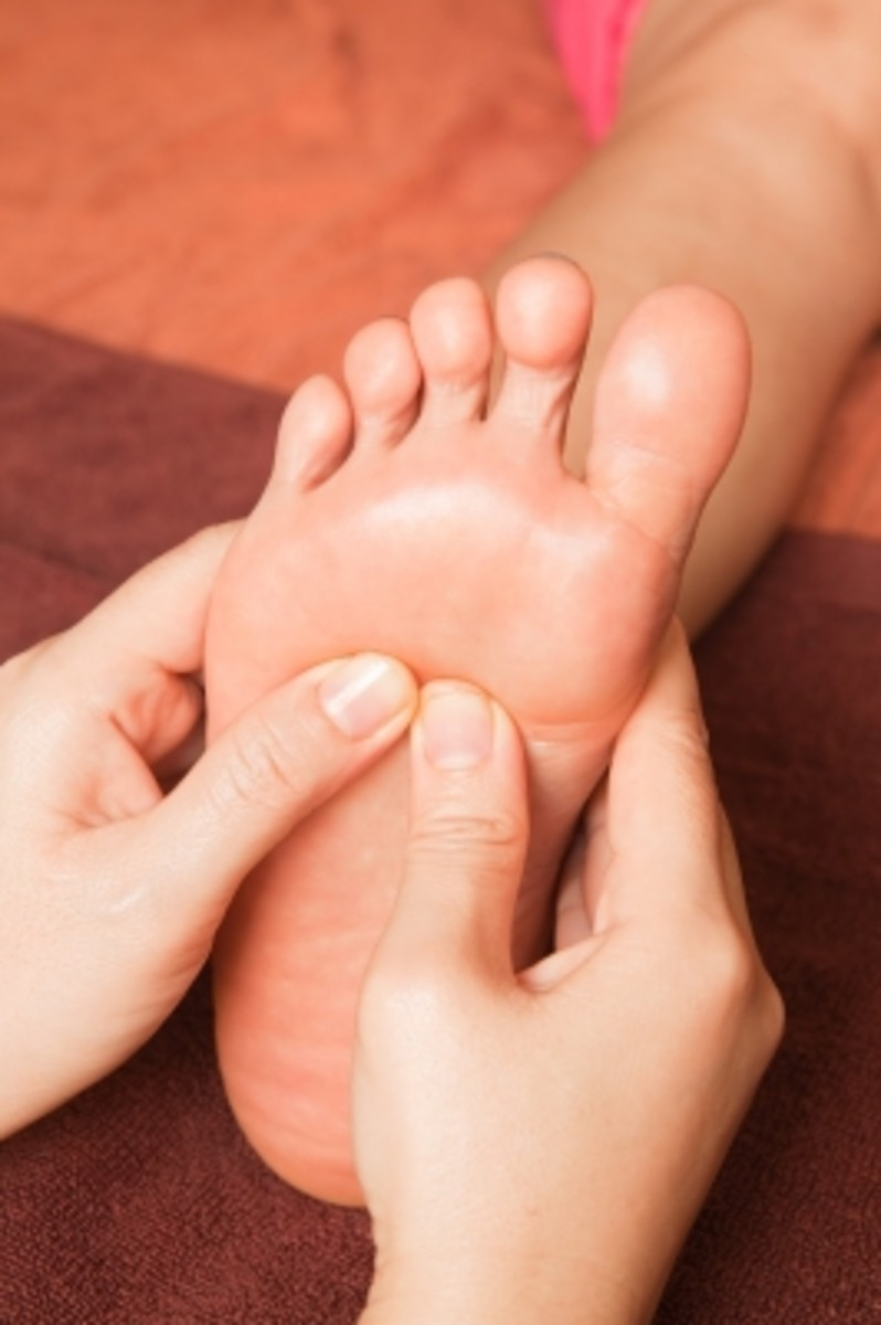 manipulation massage movements up and down the foot has reflexology benefits to the entire body.