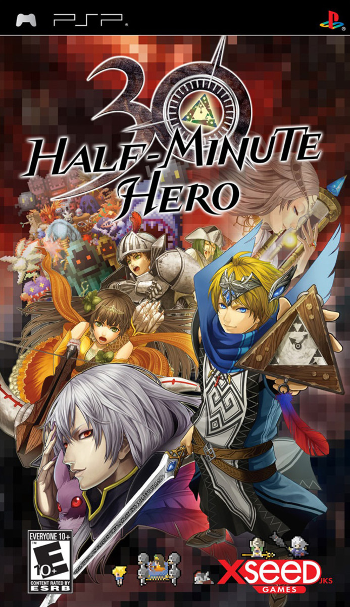 Half-minute hero PSP cover