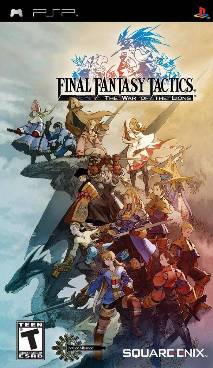 Final Fantasy Tactics : The war of the lions PSP cover