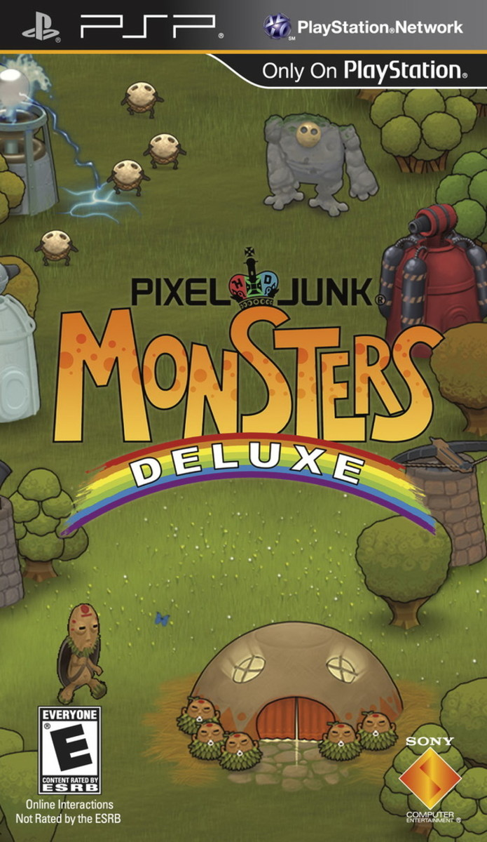 Pixel Junk Monsters Deluxe PSP cover