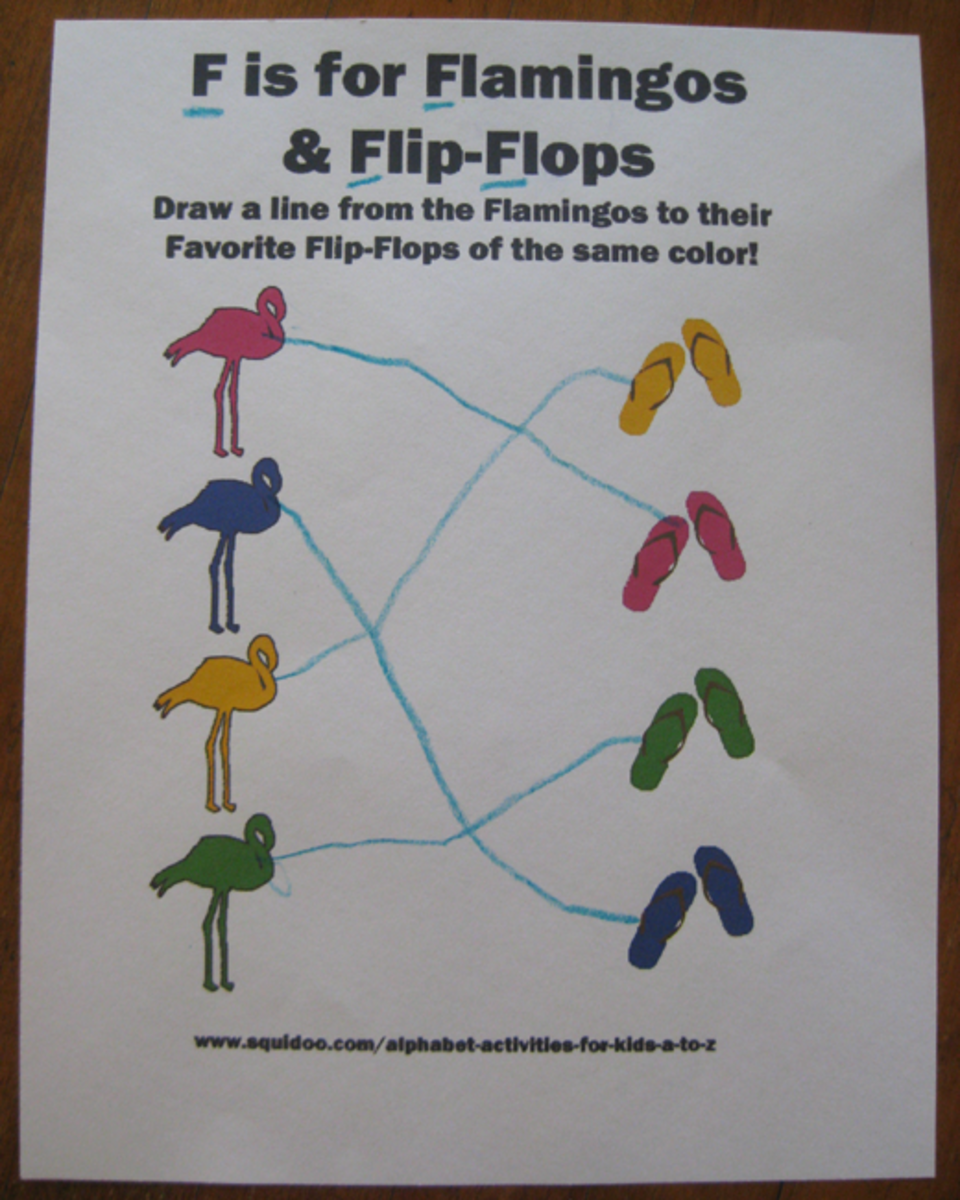 f is for flamingos and flip flops alphabet activities for kids