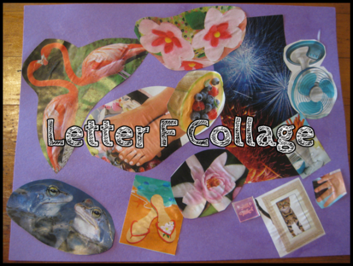 letter f collage alphabet activities for kids