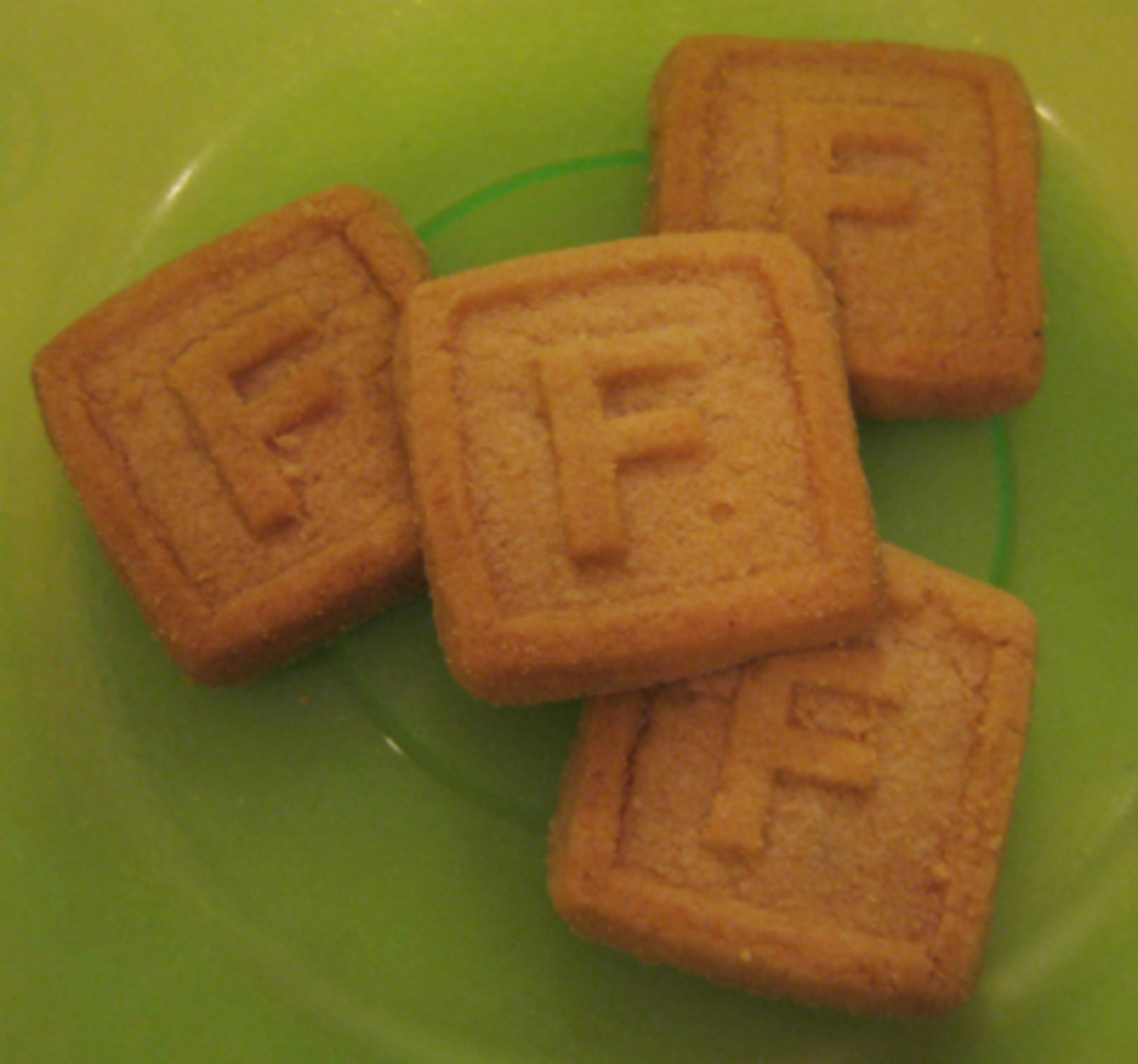 Letter F Cookies